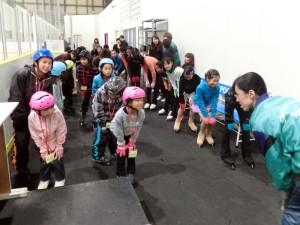 2013鳥取スケート教室 準備運動