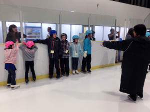 2013鳥取スケート教室 スケートリンクへ