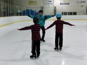 2013鳥取スケート教室 バランス練習