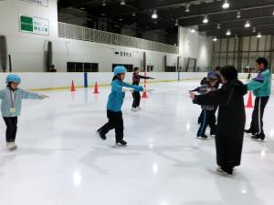 2013鳥取スケート教室 前に進む練習