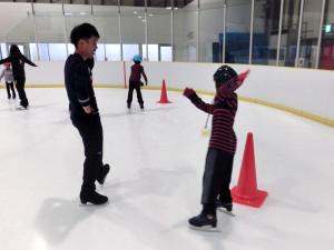 2013鳥取スケート教室 コーン周回