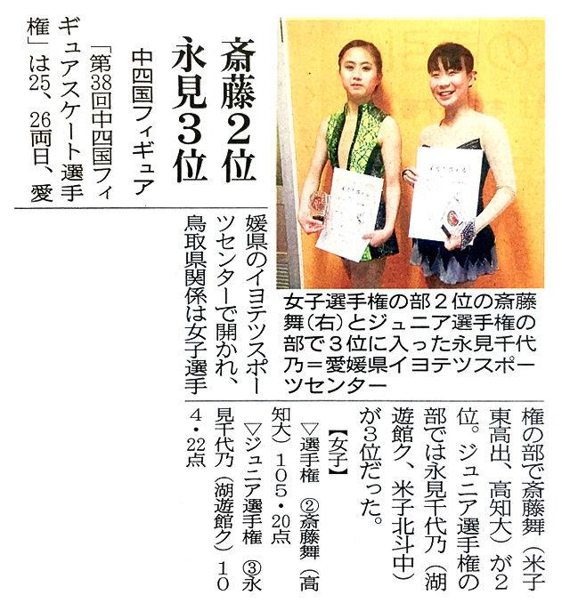 第38回中四国フィギュアスケート選手権大会
