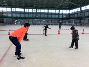 米子市スケート連盟主催 スケート教室 2017年10月15日