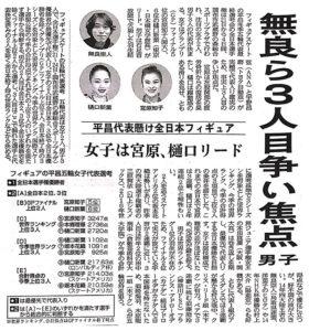 全日本フィギュアスケート選手権2017出場 無良崇人選手