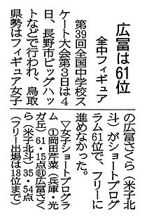 2019年2月5日(火)日本海新聞