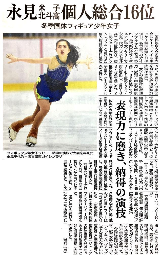 日本海新聞 2021年1月29日